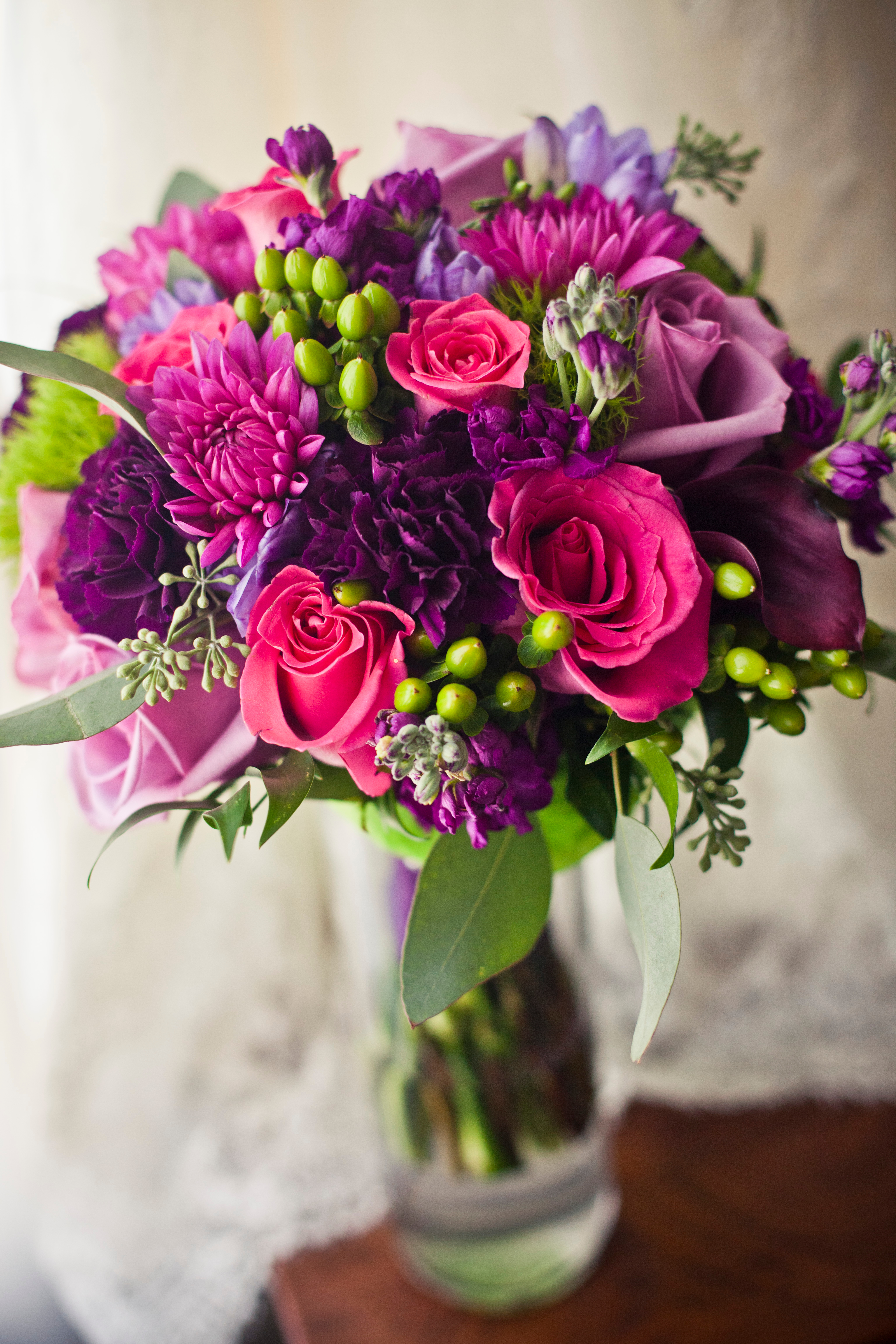 Jewel Tone Bridal Bouquet